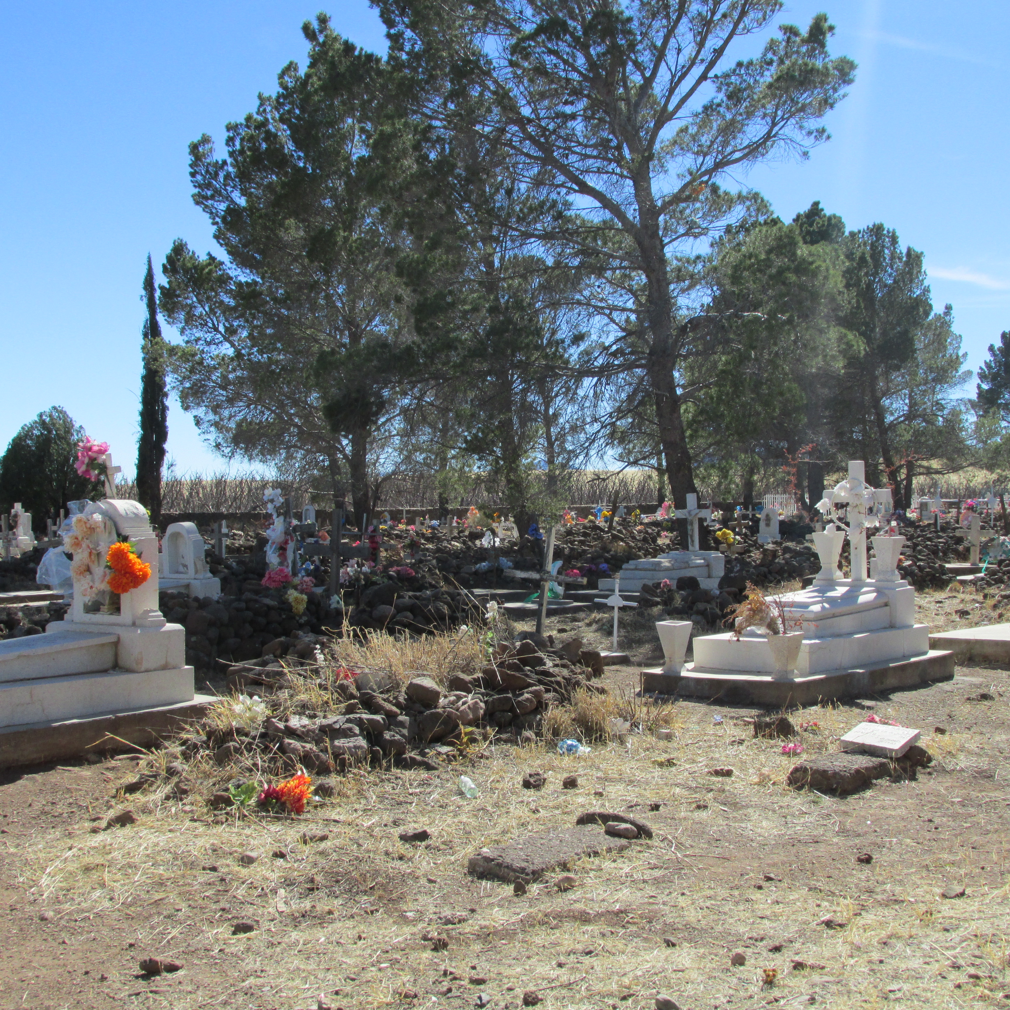 So sad that this is the only picture I got of the Mexican graves in the Juarez cemetery. They were really beautiful and this shot does not do it justice. But it is all I got :-(