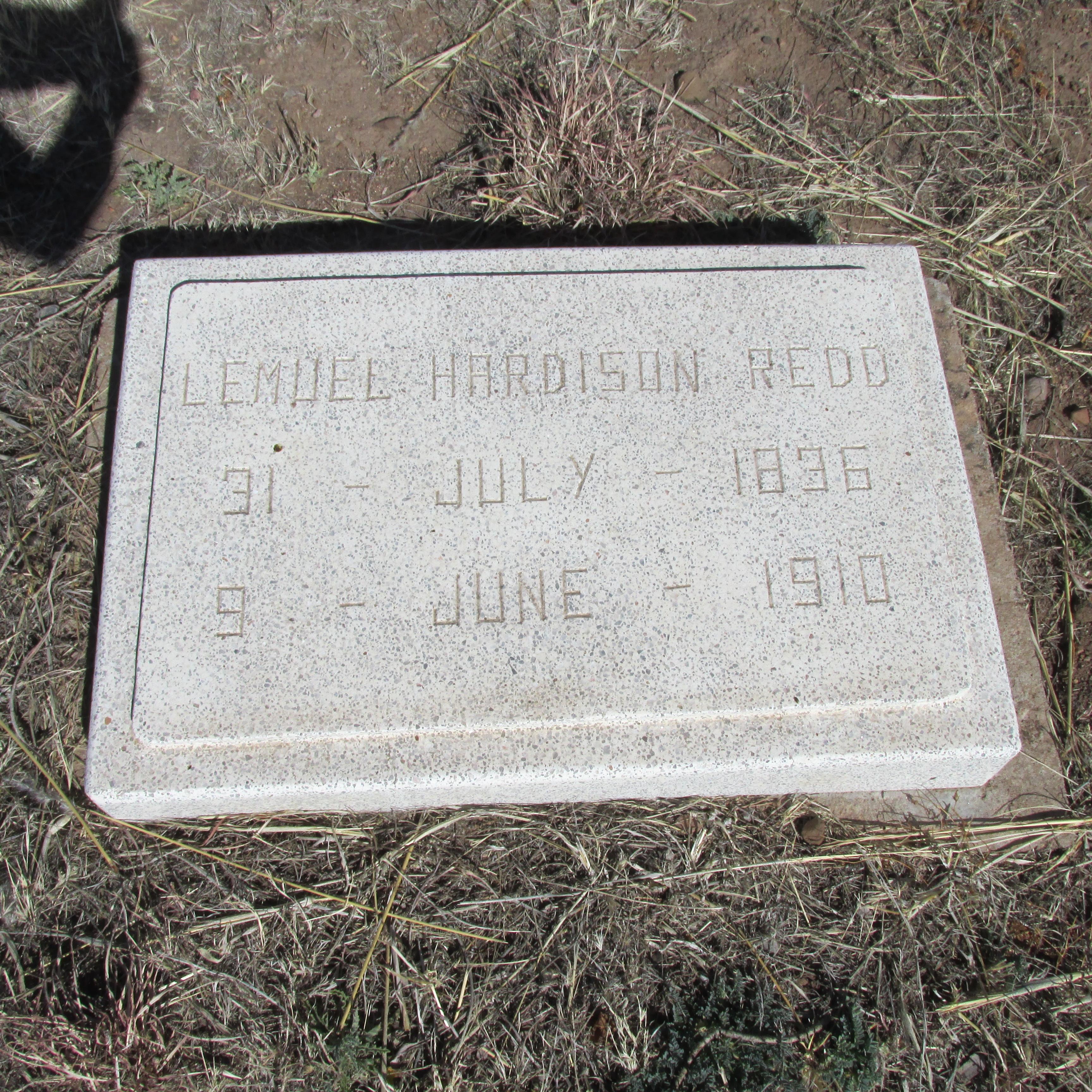 Lemuel H. Redd's grave.