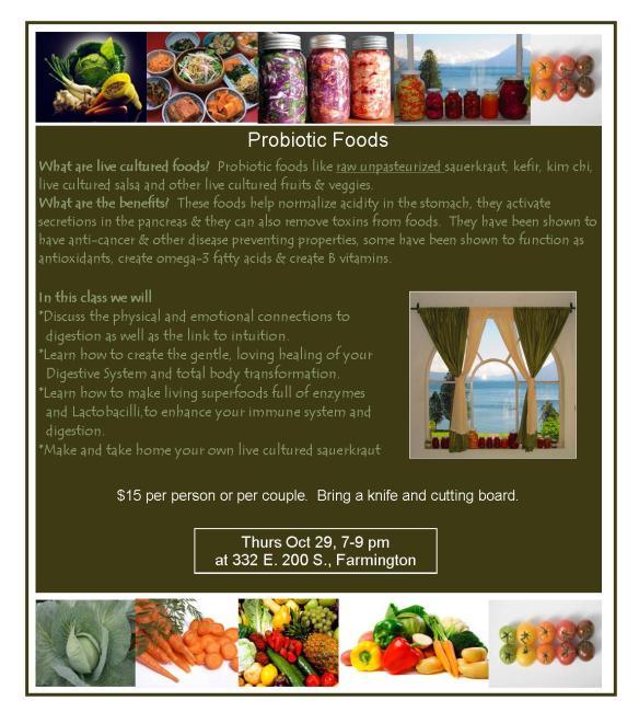 Probiotic Food flier Jeffs